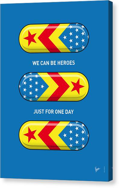 Flash Canvas Print - My Superhero Pills - Wonder Woman by Chungkong Art