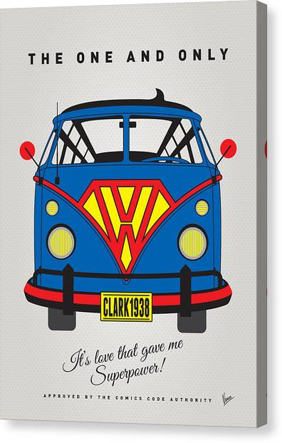 Spiderman Canvas Print - My Superhero-vw-t1-superman by Chungkong Art