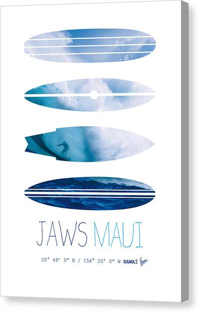 Surf Canvas Print - My Surfspots Poster-1-jaws-maui by Chungkong Art