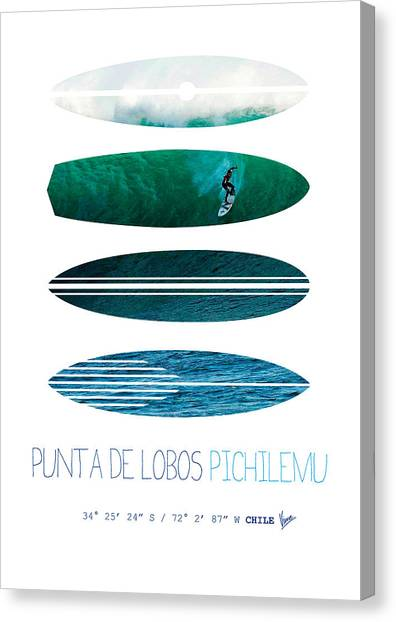 Surf Canvas Print - My Surfspots Poster-3-punta De Lobos-chile by Chungkong Art