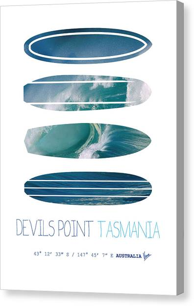 Surf Canvas Print - My Surfspots Poster-5-devils-point-tasmania by Chungkong Art