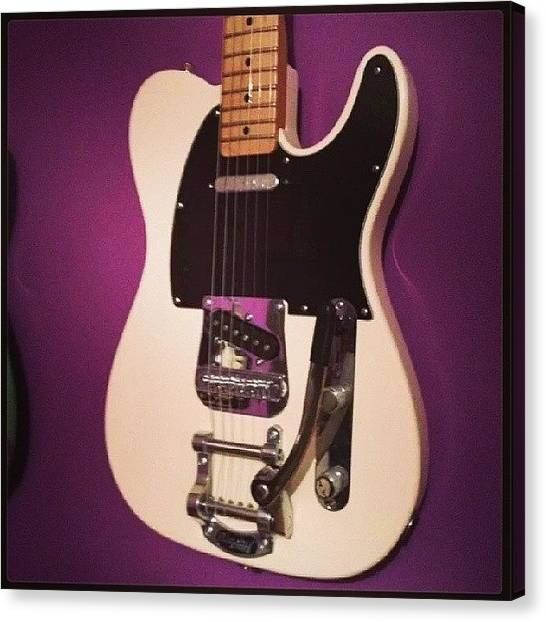 Fender Guitars Canvas Print - My Telecaster With Bigsby :d #fantastic by Philopater Di carlo
