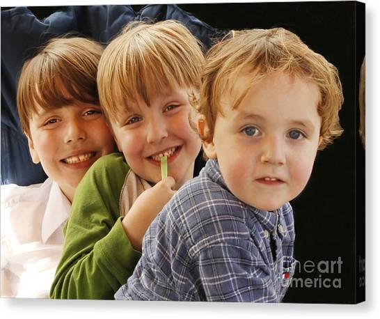 My Three Grandsons Canvas Print