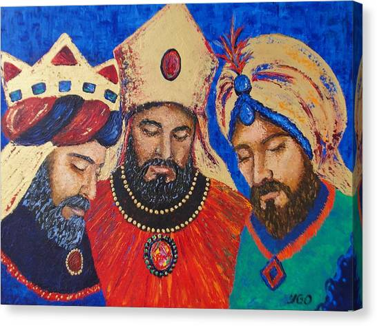 My Three Wise Kings Canvas Print by Yamelin Gonzalez-Ortiz