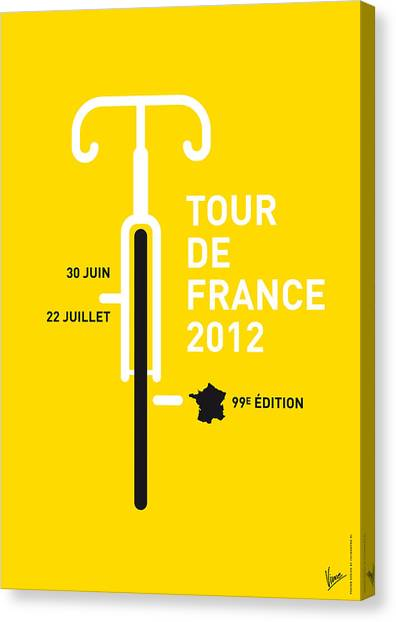 Flag Canvas Print - My Tour De France 2012 Minimal Poster by Chungkong Art
