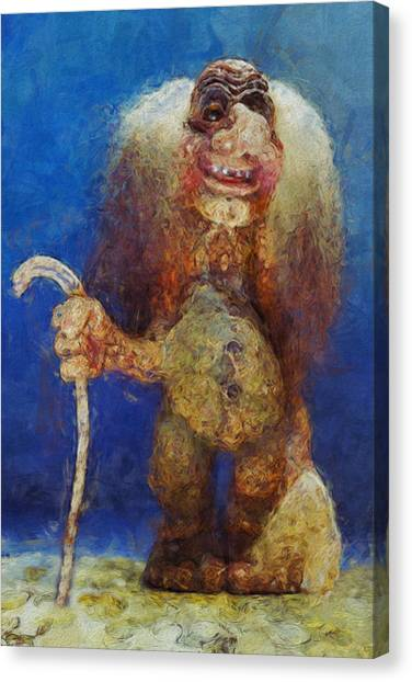 Mountain Caves Canvas Print - My Troll by Jack Zulli
