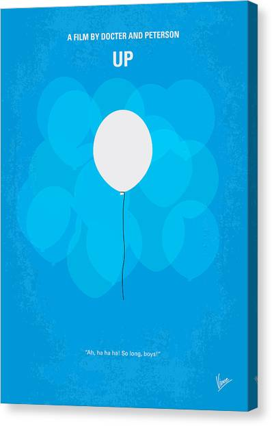 Balloons Canvas Print - My Up Minimal Movie Poster by Chungkong Art