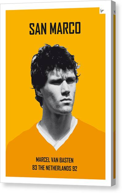 World Cup Canvas Print - My Van Basten Soccer Legend Poster by Chungkong Art
