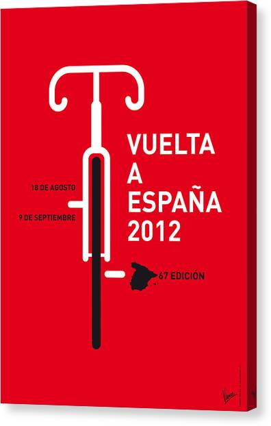 Tour De France Canvas Print - My Vuelta A Espana Minimal Poster by Chungkong Art