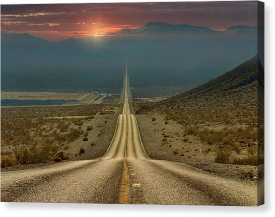 Mojave Desert Canvas Print - My Way... by Gennady Shatov