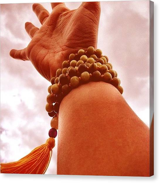 Hinduism Canvas Print - My New Mala Beads by Madison Dragna