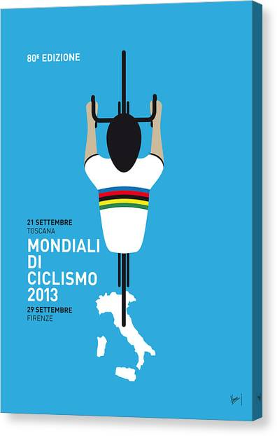 Tour De France Canvas Print - My World Championships Minimal Poster by Chungkong Art
