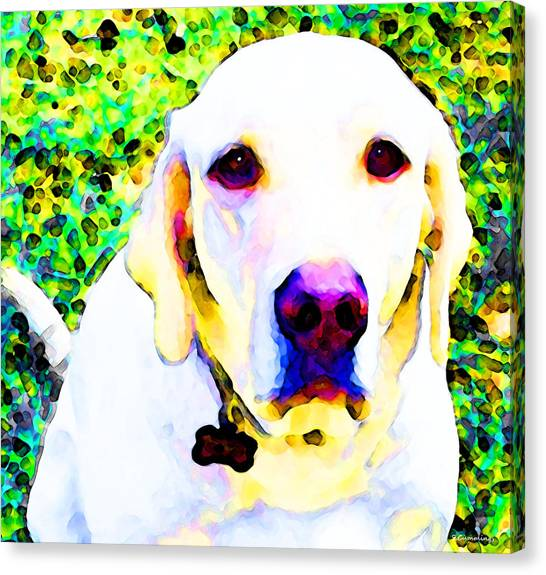 My World Dog Art By Sharon Cummings Canvas Print by William Patrick