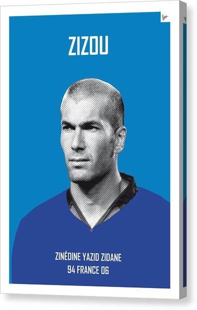 Argentinian Canvas Print - My Zidane Soccer Legend Poster by Chungkong Art