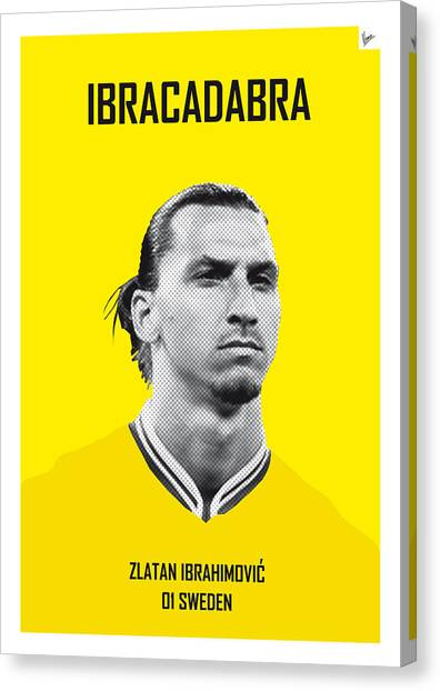 World Cup Canvas Print - My Zlatan Soccer Legend Poster by Chungkong Art