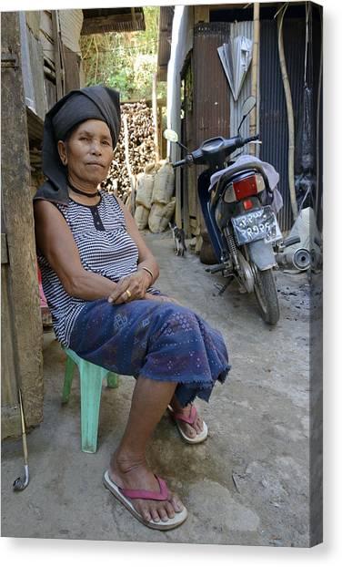 Myanmar Portrait Canvas Print