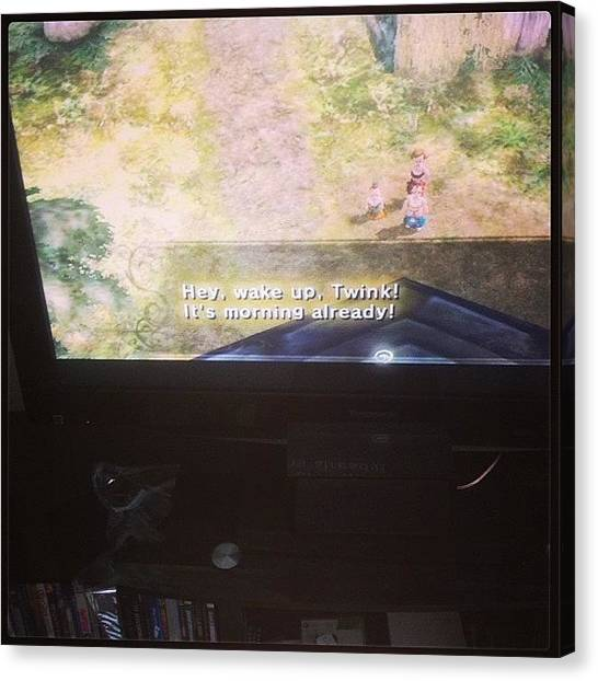 Wii Canvas Print - #myday #twilightprincess #wii #420 by Heather Murphy