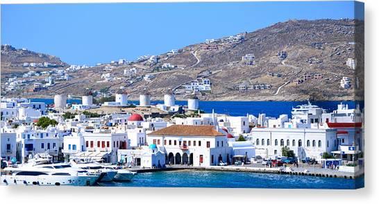 Mykonos Port Canvas Print