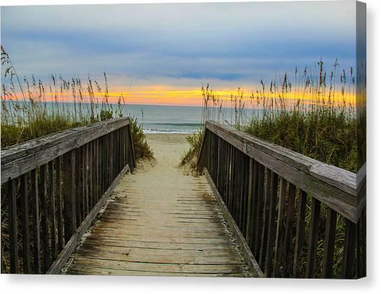 Myrtle Beach Morning Walk  Canvas Print by Donald Hovis Jr