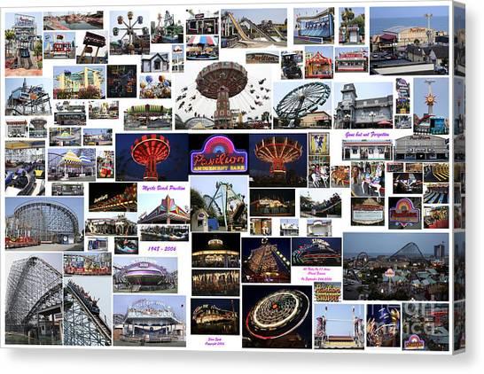 Myrtle Beach Pavilion Collage Canvas Print