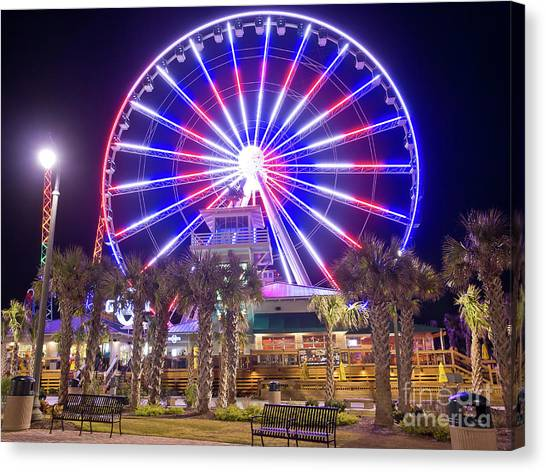 Myrtle Beach Sky Wheel Canvas Print
