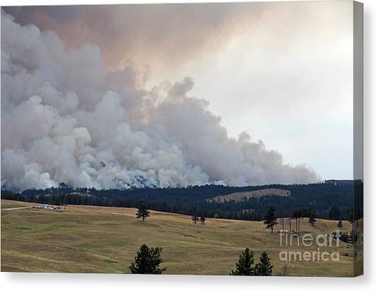 Myrtle Fire West Of Wind Cave National Park Canvas Print