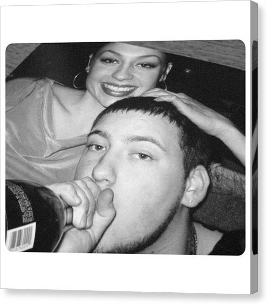Innocent Canvas Print - Myself Via 1999 #tbt #crazy #young by Marcus Friedhofer