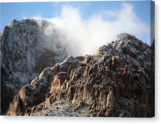 Mysterious Mountain Canvas Print