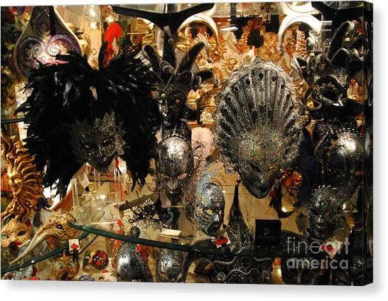 Carnival Of Venice Canvas Print by Jacqueline M Lewis