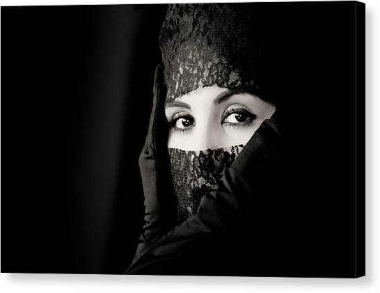 Mystery That Is Woman Canvas Print