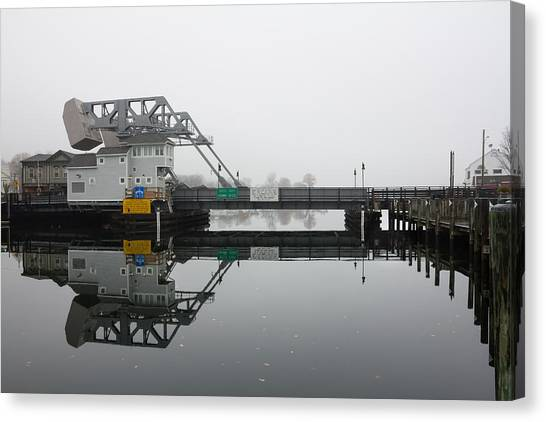 Mystic Ct Drawbridge Canvas Print