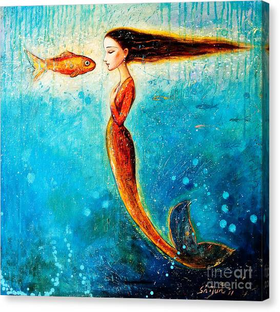 Mythological Creatures Canvas Print - Mystic Mermaid II by Shijun Munns