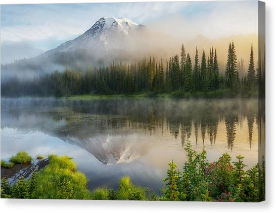 Mystic Rainier Canvas Print