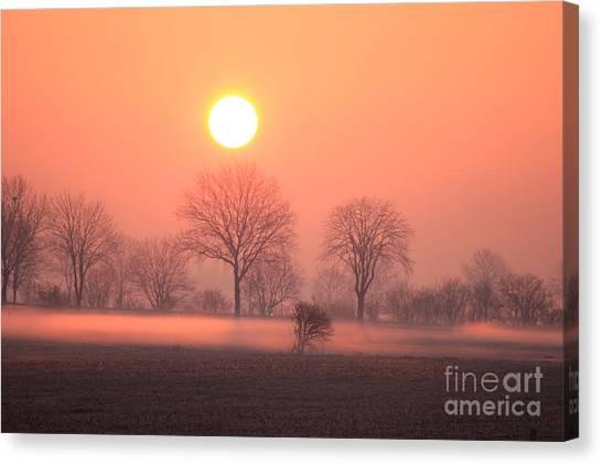 Mystic Red Sunrise Canvas Print