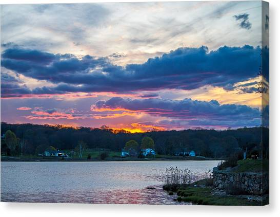 Mystic River Sunset Canvas Print