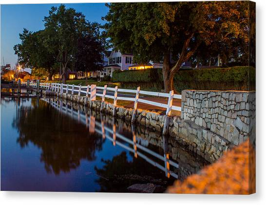 Mystic River Wall Reflection Canvas Print