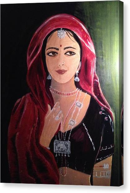 Mystic Woman Canvas Print by Brindha Naveen