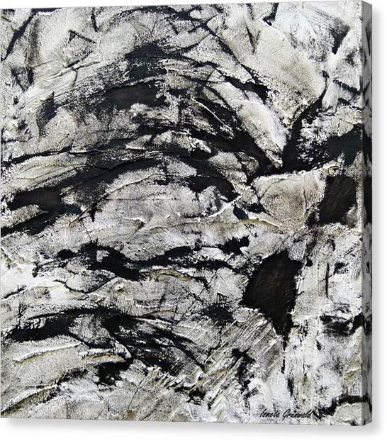 Mystical - Abstract Art Canvas Print by Ismeta Gruenwald