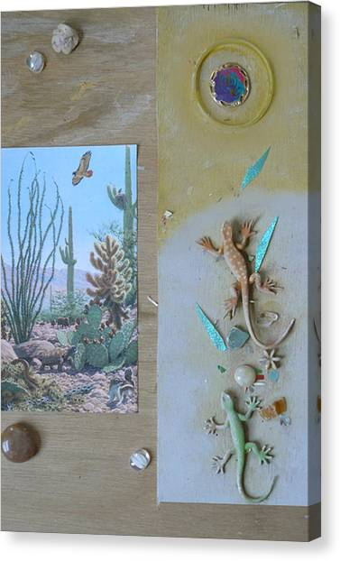 Mystical Desert  C Canvas Print by Mary Ann  Leitch