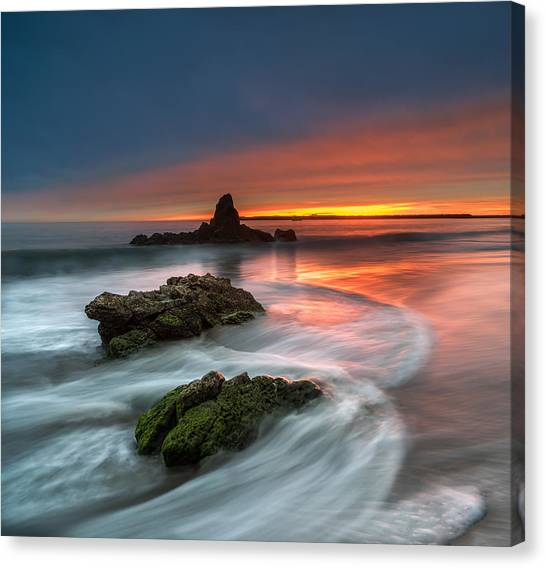 Singh Canvas Print - Mystical Sunset 2 by Larry Marshall