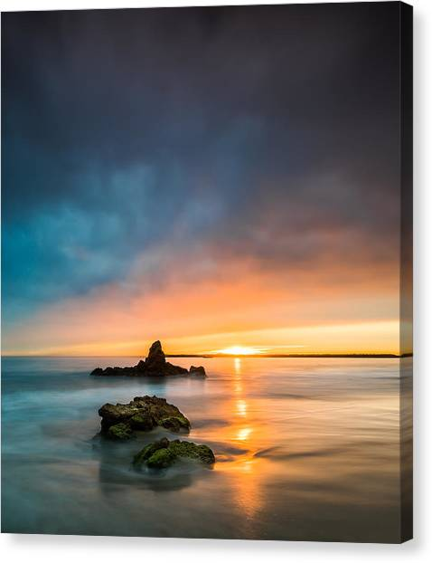 Singh Canvas Print - Mystical Sunset by Larry Marshall