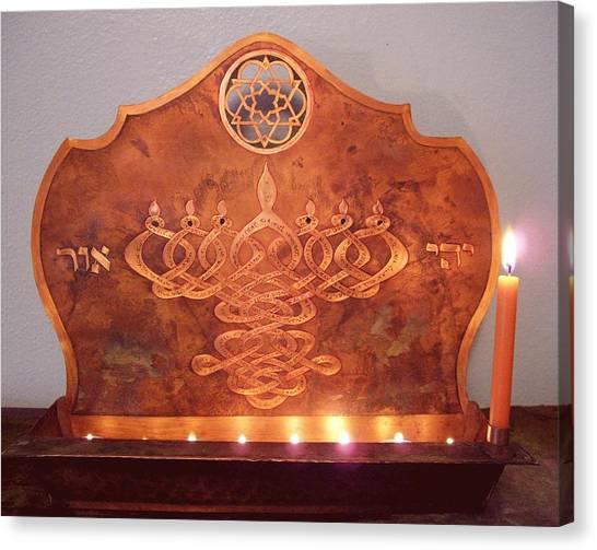Mystic's Menorah Canvas Print