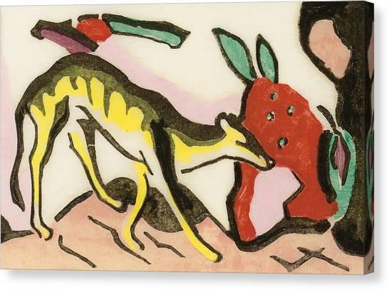 Mythological Creatures Canvas Print - Mythical Animal  by Franz Marc