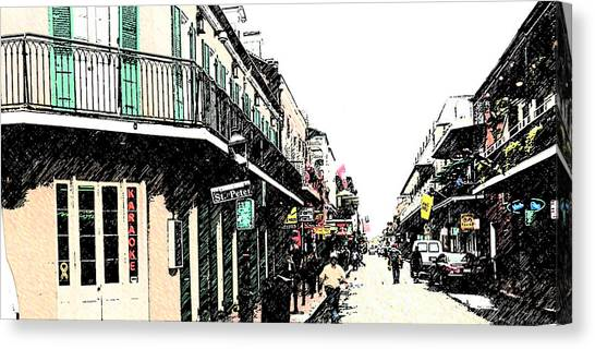 N O French Quarter Canvas Print