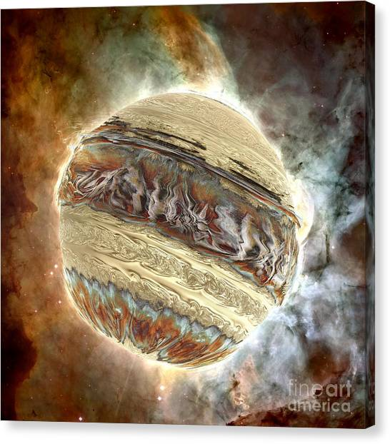 Nacre Planet Canvas Print by Bernard MICHEL