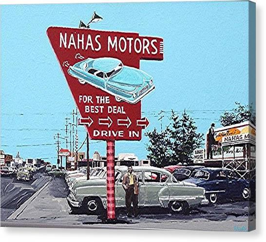 Nahas Motors Canvas Print by Paul Guyer