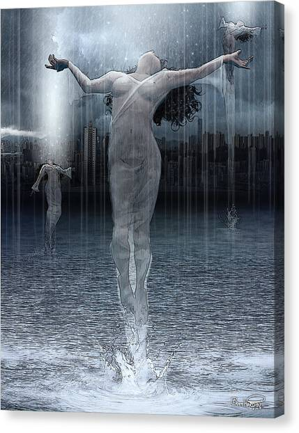 Naiads Water Nymph Canvas Print