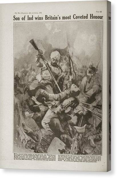 Sikh Canvas Print - Naik Darwen Singh Negi by British Library