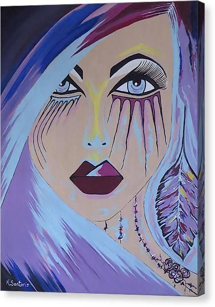 Naira - Contemporary Woman Painting Canvas Print