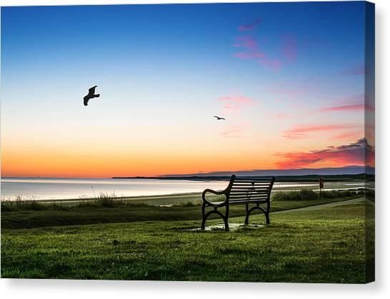 Nairn Beach At Dawn Canvas Print